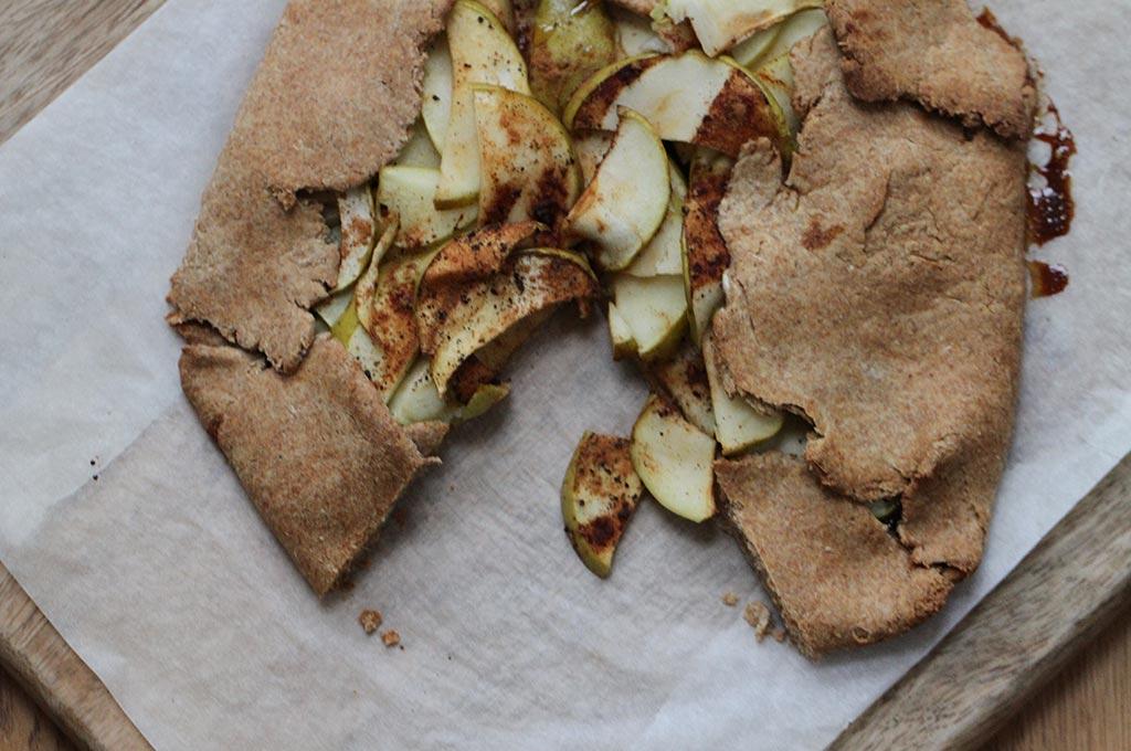 Spelt apple galette