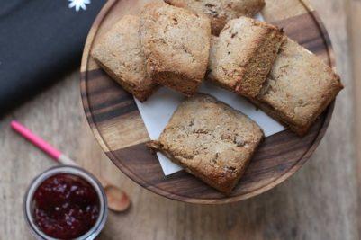 Fig and Hazelnut spelt vegan scones
